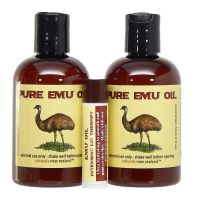 Set of two Emu Oil Bottles Free Lip Balm