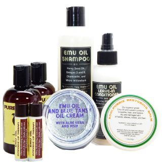 Set of six emu oil products
