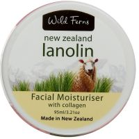 Lanolin face cream with collagen