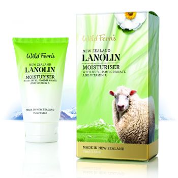 Wild Ferns Lanolin Moisturizer with Pomegranate and Vit A