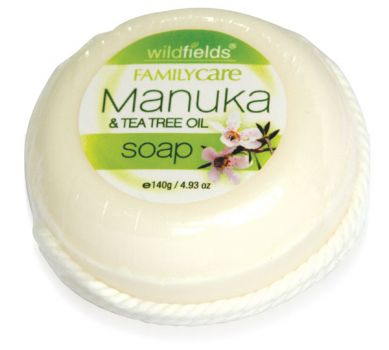 Manuka oil and tea tree oil soap