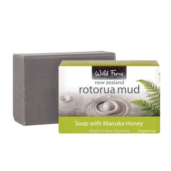 Wild Ferns Rotorua Mud and Manuka Honey Soap